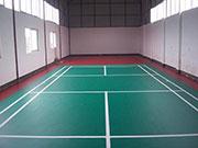 羽毛球运动地板结构层分类