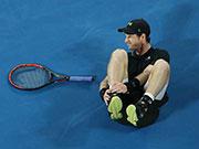 澳网第三日穆雷脚踝扭伤 伤势暂无大碍但仍需观察
