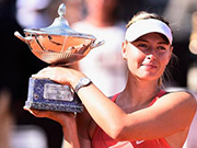 莎拉波娃获2017罗马公开赛外卡 4月26日复出就参赛