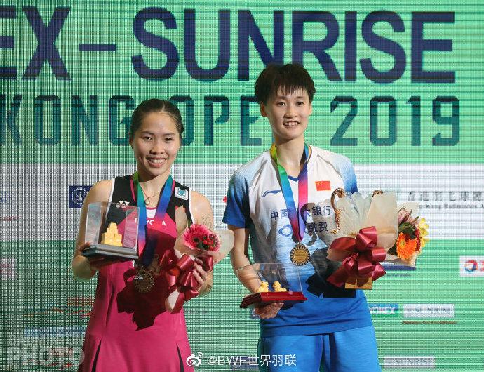 香港赛陈雨菲2-1击败因达农摘金 本赛季收六个冠军