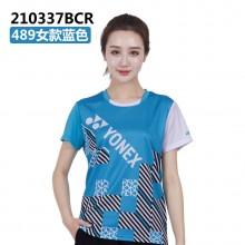 尤尼克斯 YONEX 男女羽毛球服 舒适大方 110337 210337蓝【特惠清仓】
