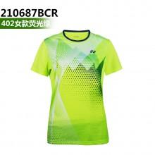 尤尼克斯 YONEX 男女羽毛球服 透气速干 110687/210687BCR