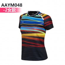 李宁羽毛球服 国家队赞助款 极光炫彩AAYM067 AAYM048