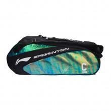 李宁 ABJM118 六支装羽毛球包 谌龙签名款拍包 3D立体压膜 独立鞋袋【促销特卖】