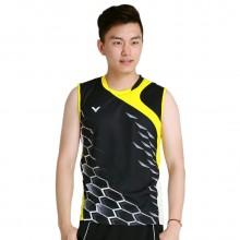 胜利VICTOR T-5003C 男款羽毛球服 无袖运动T恤 大赛系列 比赛服