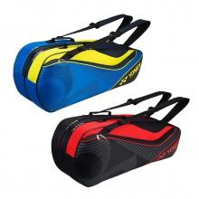 尤尼克斯YONEX 六支装羽毛球包 BAG8726CR 双肩手提两用 独立鞋袋