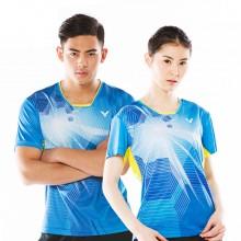 胜利VICTOR 男女款羽毛球服 情侣款 运动上衣 舒适透气 T-70015/T-71015