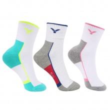 胜利 VICTOR SK234 女款羽毛球袜 运动袜 短袜 透气 包裹设计 两色可选