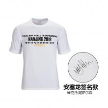 尤尼克斯 YONEX 男款文化衫 运动T恤 世锦赛林丹/安塞龙/李宗伟签名款 YOBC8009CR