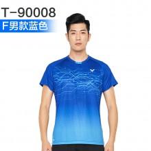 胜利VICTOR 男女羽毛球服 运动短袖 T-91008 T-90008吸汗速干