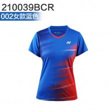 尤尼克斯 YONEX男女羽毛球服 运动短袖 110039BCR/210039BCR 2019新款