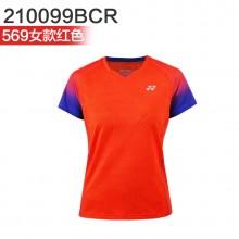 尤尼克斯 YONEX男女羽毛球服 运动短袖 110099BCR/210099BCR 2019新款