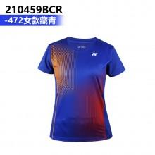 尤尼克斯YONEX 男女羽毛球服 运动T恤 110459BCR 210459BCR