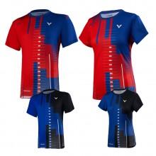 胜利VICTOR 男女羽毛球服 运动短袖 T-95000TD T-96000TD 吸汗速干