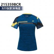 尤尼克斯YONEX 男女羽毛球服 运动T恤 115359BCR 215359BCR