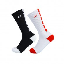 尤尼克斯YONEX 男款羽毛球襪運動襪 長筒運動襪 適透氣145229BCR