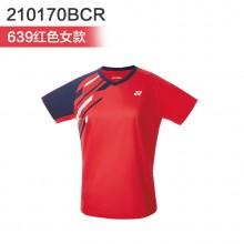 尤尼克斯YONEX 男女羽毛球服 运动T恤 110170BCR 210170BCR