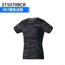 尤尼克斯YONEX 男女羽毛球服 运动T恤 115070BCR 215070BCR
