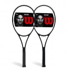 维尔胜Wilson 网球拍 费德勒同款战拍 小黑拍 碳素纤维 PS97CV/LCV