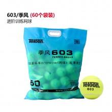 天龙Teloon 网球 603季风 袋装网球 耐打高弹力 比赛用球 60个