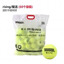 天龙Teloon 网球 RISING复活 练习训练比赛用网球 耐磨 弹性好 袋装 60个