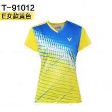 胜利VICTOR 男女羽毛球服 运动短袖 T-91012 T-90012吸汗速干【特惠清仓】