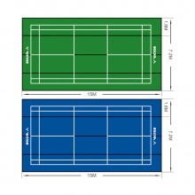 胜利 VICTOR C-7057Z移动式塑胶场地(大赛型)羽毛球地胶 拉链式拼接