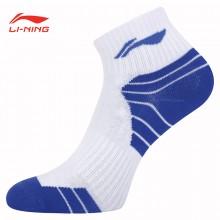 李宁 男运动袜 羽毛球袜 AWSP224 透气舒适 运动棉袜 舒适耐穿