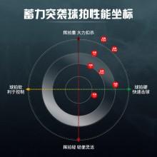 2021新款李宁LINING 突袭9羽毛球拍全面型速度专业高磅进攻拍