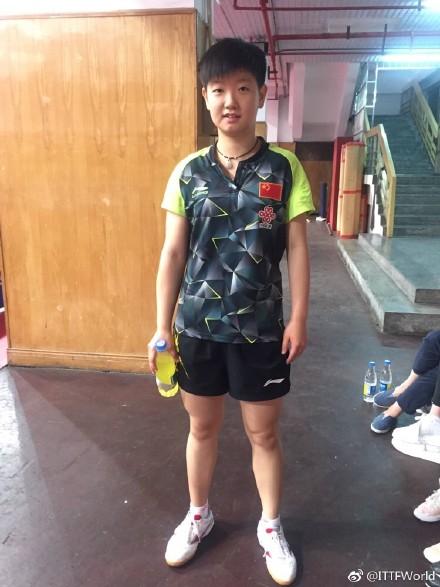 2017中国乒乓球公开赛 孙颖莎首战胜12岁日本小将