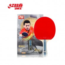 红双喜 六星级乒乓球拍 6002 双面反胶横拍